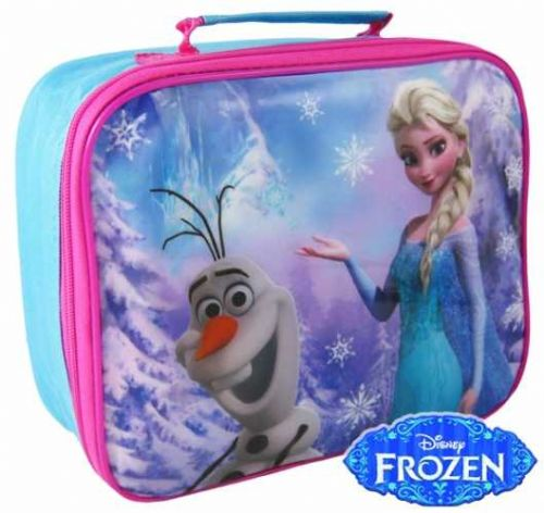 "Official Disney Frozen ""Elsa & Olaf"" Character Insulated Lunch Bag ""Perfect For School"""